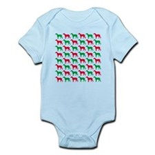 Greyhound Christmas or Holiday Silhouettes Onesie
