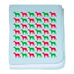 Greyhound Christmas or Holiday Silhouettes baby bl