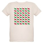 Greyhound Christmas or Holiday Silhouettes Organic