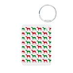 Greyhound Christmas or Holiday Silhouettes Aluminu