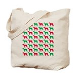 Greyhound Christmas or Holiday Silhouettes Tote Ba