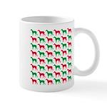 Greyhound Christmas or Holiday Silhouettes Mug
