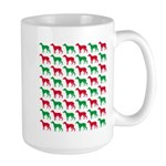 Greyhound Christmas or Holiday Silhouettes Large M