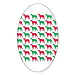 Greyhound Christmas or Holiday Silhouettes Sticker