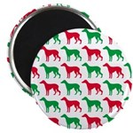 Greyhound Christmas or Holiday Silhouettes Magnet