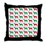 Greyhound Christmas or Holiday Silhouettes Throw P