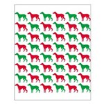 Greyhound Christmas or Holiday Silhouettes Small P
