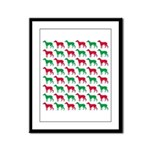 Greyhound Christmas or Holiday Silhouettes Framed
