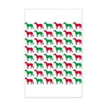 Greyhound Christmas or Holiday Silhouettes Mini Po