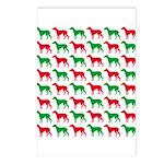 Greyhound Christmas or Holiday Silhouettes Postcar