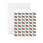 Greyhound Christmas or Holiday Silhouettes Greetin