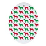 Greyhound Christmas or Holiday Silhouettes Ornamen