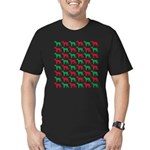 Greyhound Christmas or Holiday Silhouettes Men's F