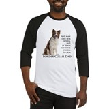 Border collie dad Baseball Tee
