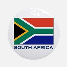 South Africa Flag Stuff Ornament (Round)