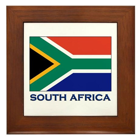 South Africa Flag Stuff Framed Tile