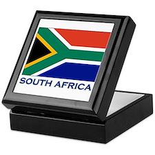 South Africa Flag Stuff Keepsake Box
