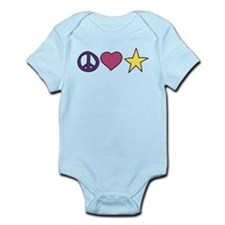 Peace Love And Party Infant Bodysuit