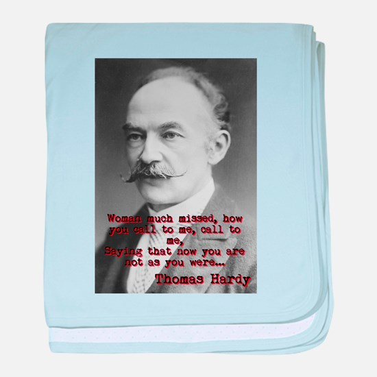 Woman Much Missed - Thomas Hardy baby blanket