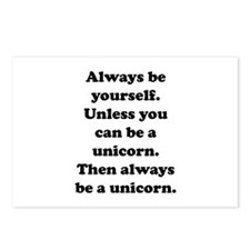 Then always be a unicorn Postcards (Package of 8)