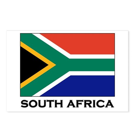 South Africa Flag Gear Postcards (Package of 8)