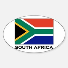 South Africa Flag Gear Oval Decal