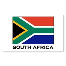 South Africa Flag Gear Rectangle Decal