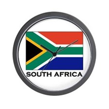 South Africa Flag Gear Wall Clock