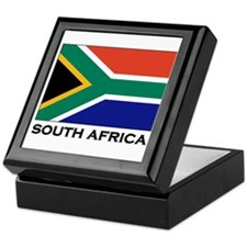 South Africa Flag Gear Keepsake Box