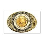 Buffalo gold oval 1 Car Magnet 20 x 12