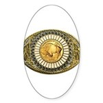 Buffalo gold oval 1 Sticker (Oval)