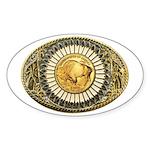 Buffalo gold oval 1 Sticker (Oval 10 pk)