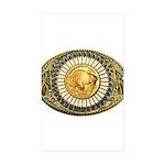 Buffalo gold oval 1 Sticker (Rectangle 50 pk)