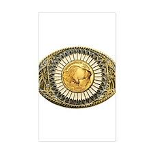 Buffalo gold oval 1 Decal