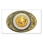 Buffalo gold oval 1 Sticker (Rectangle)