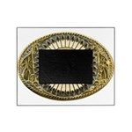 Buffalo gold oval 1 Picture Frame