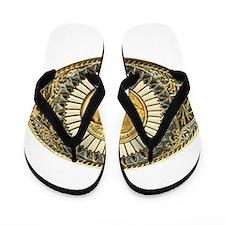Buffalo gold oval 1 Flip Flops