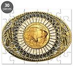 Buffalo gold oval 1 Puzzle