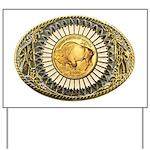 Buffalo gold oval 1 Yard Sign