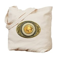Buffalo gold oval 1 Tote Bag