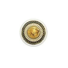 Buffalo gold oval 1 Mini Button