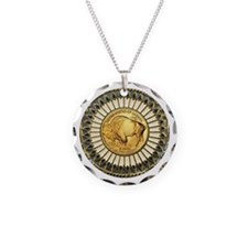 Buffalo gold oval 1 Necklace