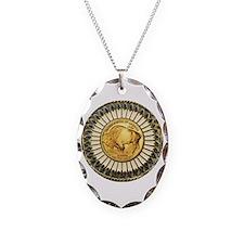 Buffalo gold oval 1 Necklace