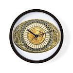 Buffalo gold oval 1 Wall Clock