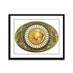 Buffalo gold oval 1 Framed Panel Print