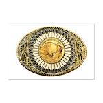 Buffalo gold oval 1 Mini Poster Print