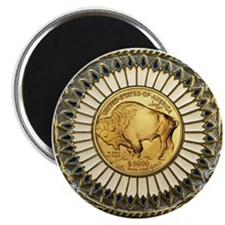 Buffalo gold oval 1 Magnet