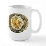 Buffalo gold oval 1 Large Mug