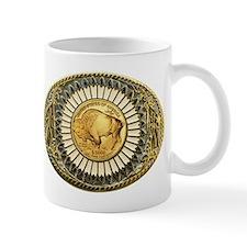 Buffalo gold oval 1 Small Mug