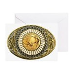 Buffalo gold oval 1 Greeting Cards (Pk of 10)